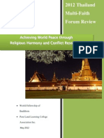 2012 Thailand Multi-Faith Forum Review