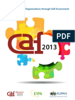Eipa 2012_improving Public Organisations Through Self-Assessment, Caf 2013 [en]