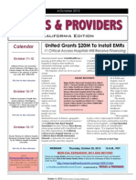 Payers & Providers California Edition – Issue of October 4, 2012