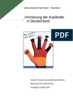 Die Diskriminierung der Ausländer in Deutschland