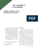 CONSTITUIÇÃO, GOVERNO E DEMOCRACIA NO BRASIL