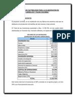 Resumen Del Proyectos Evaluacion de Proyectos
