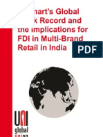 Walmart Global Track Record and the Implications for FDI in MultiBrand Retail in India