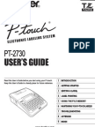 P Touch Hardware Manual - UM PT 2730 2730VP en 2659