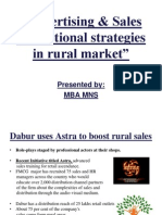advertisingsalespromotionalstrategiesinruralmarket-090420093644-phpapp02