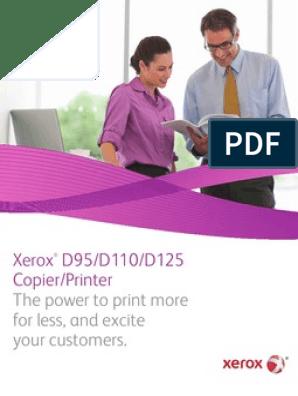 Xerox® D95/D110/D125 Copier/Printer | Image Scanner