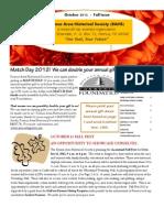 Oct 2012 Newsletter