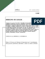 DDL n. 3451 del 25-09-2012 degli On.li Sen. M. Sacconi, M. Castro ed altri