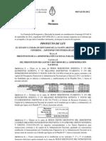 Dictamen Minoría Coalición Cívica, Peronismo Federal, PRO Presupuesto 2013