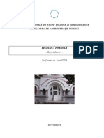Legistica Formala, AN III, FAP SNSPA