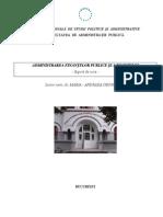 Administrarea Finantelor Publice, AN II, FAP SNSPA