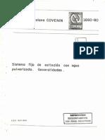 Covenin 1660-80 Sistema Fijos de Extincion Con Agua Pulverizada, Generalizadades