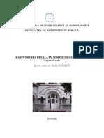 Raspunderea Penala in Administratia Publica, AN II, FAP, SNSPA