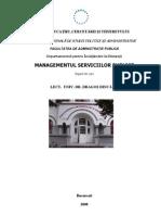 Managementul Serviciilor Publice, AN II, FAP, SNSPA