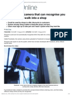 We'Re Watching_ the Camera That Can Recognise You From Your Facebook Picture Every Time You Walk Into a Shop _ Mail Online