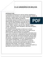Historia de La Ganaderia en Bolivia