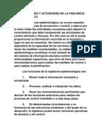 Funciones y Actividades de La Vigilancia Epidemiologica