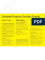 Eastside Projects October Events 2012