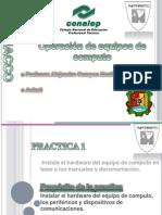 Practica 1 - Operación de equipos de computo