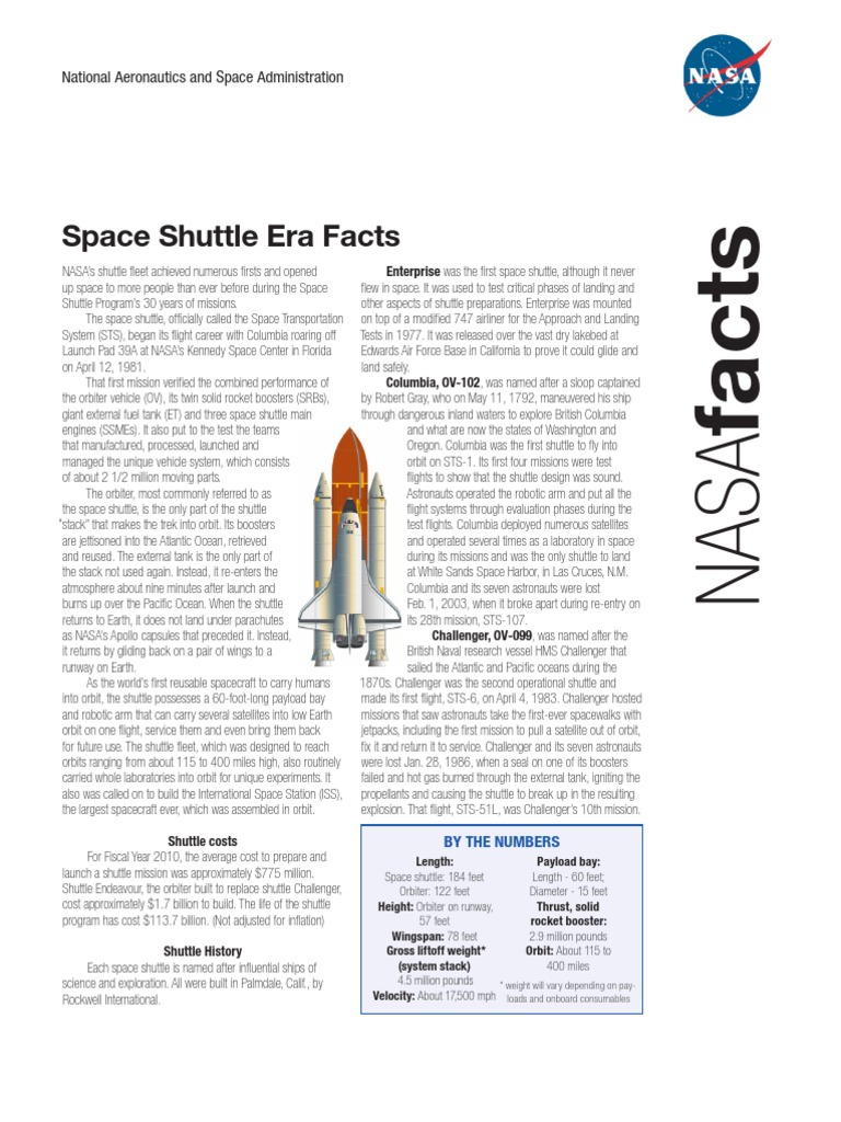 interesting facts about space shuttle columbia - photo #44