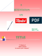 Ratio Analysis- Montex Pens