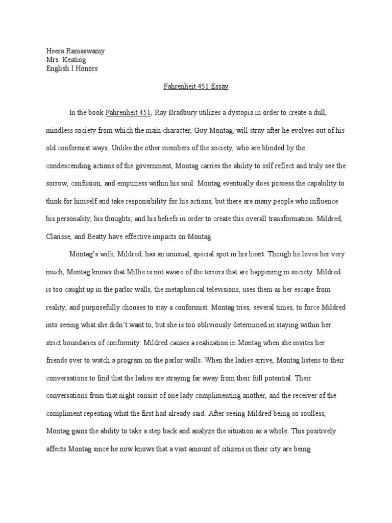 Fahrenheit  Essay  Philosophical Science  Science