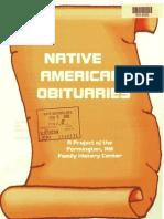 Native American Obituaries