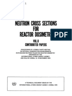 Neutron Cross Sections for Reactor Dosimetry
