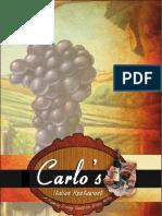 Carlos Restaurant Menu