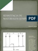Resistencia de Materiales Ejemplo Deformacion Vertical