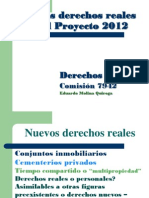 Propiedades especiales  Proy. 2012