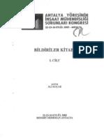 Antalya Yöresinin İnşaat Mühendisliği Sorunları-1