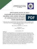 Ang Kahalagan at Mga Kadahilanan Kung Bakit Wikang Filipino Ang Wikang Pambansa at Ang Kaugnayan Nito Sa Unlad Pang-ekonomiya