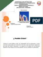 Presentación Manejo de Crisis a nivel Comunicacional en las Organizaciones