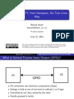 Gpio Spi i2c Userspace