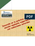 HUGO MARTIN ATOMICA CORDOBA INCURSION PRACTICA CIENTIFICA ESCOLAR EXPERIMENTOS RADIACIONES NATURALES