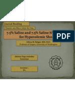 Hypertonic Saline for Resuscitation