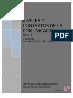 Niveles y Contexto de La Comunicacion