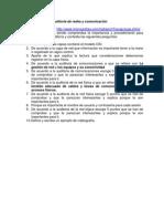 Cuestionario sobre auditoria de redes y comunicación