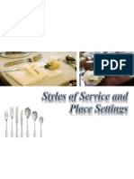 Styles of Place Settings