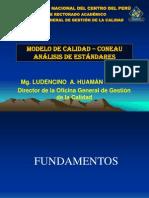 Modelo de calidad CONEAU y analisis de estándares