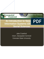 GIS in Social Science Workshop Presentation
