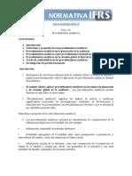NIA 520 - Procedimientos Analiticos