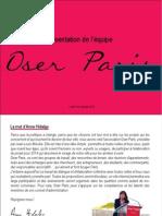 Presentation CA Oser Paris