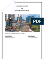 A Project Report on Debtors Managment
