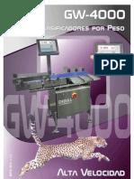 DIBAL - Catálogo de Clasificadores por Peso GW-4000
