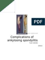 Complications of Ankylosing Spondylitis