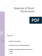 Measures of Good Governance