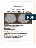 Daisy - Frilly pants/nappy/diaper cover knitting pattern for reborns and baby dolls