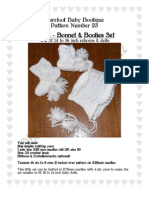 Bonnet & Boots Knitting pattern to fit small reborns & baby dolls